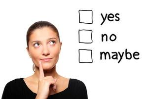 Woman trying to make a decision