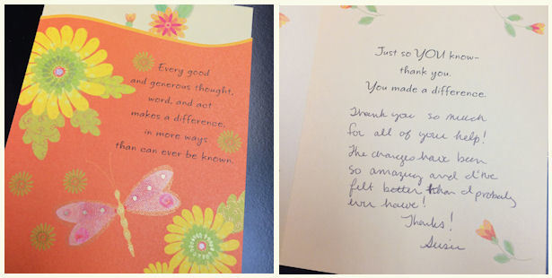 Susie thank you card