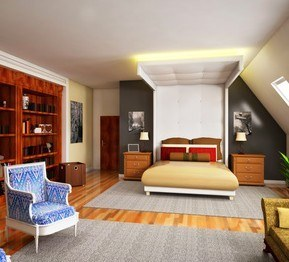 Clean, organized, peaceful bedroom